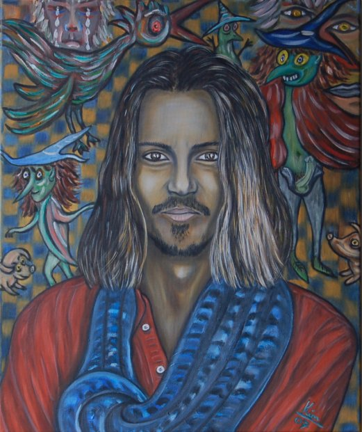 Oil Painting > The Visit > Johnny Depp